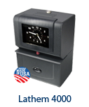 Lathem 4000 Time Clock