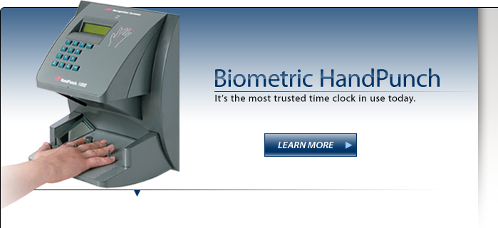 Biometric HandPunch Time and Attendance System