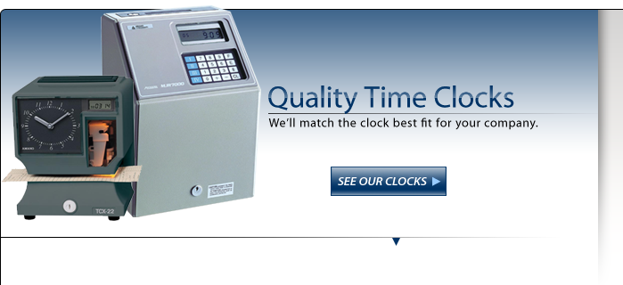 Employee Time Clocks, Payroll Time Recorders